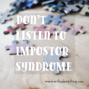 Impostor Syndrome blog post for entrepreneurs and creatives