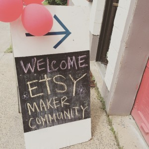 I was a trainer at the Etsy City Makers conference in Halifax, Nova Scotia.