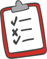 Illustration of a checklist on a clipboard